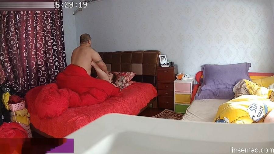 入侵家庭摄像头, 胖夫妻交叉剪刀高强度性爱